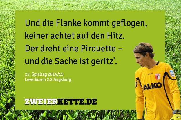 Marvit Hitz Tor gegen Leverkusen